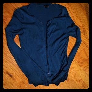Royal blue express cardigan
